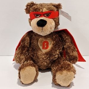 NWT Super hero Brickley plush bear by Gund